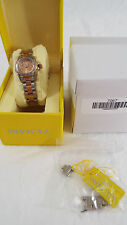 Invicta Women's 7067 Rose Gold Dial Two Tone Stainless Steel Watch WORN ONCE!