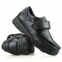 Boys Kids New Formal Smart Casual Touch Strap Back To School Trainers Shoes Size