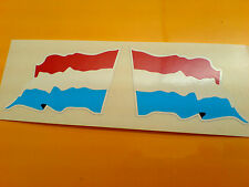 NETHERLANDS Wavey Flag  Motorcycle Helmet  Car Stickers Decals 2 off 60mm