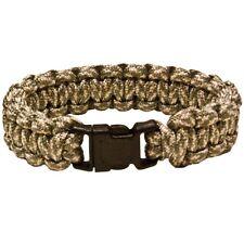 """Paracord Survival Bracelet 550 Cobra Stitch 9"""" ACU Military Army Emergency Cord"""