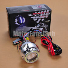 "2.2"" Latest Dual LED Angel Eye HID BI-Xenon Projector Lens Headlight Kit Halo #4"