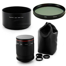 Albinar 500mm Mirror Lens,Filter,Hood for Canon EOS mount,5D 7D 60D 50D 30D 10D
