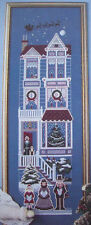 Astor Place Victorian House Christmas rooms Santa sleight  cross stitch patterns