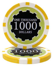 100 Yellow $1000 Eclipse 14g Casino Quality Clay Poker Chips New