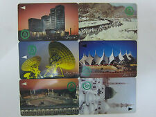 Used - 6 pcs - Saudi Arabia Phonecards