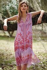 NWT Anthropologie Wisteria Silk Dress by Floreat size 8 Enchanting Beauty $188