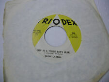 Cathy Carroll Jimmy Love/Deep In A Young Boy's 45 RPM Triodex Records VG+ Teener