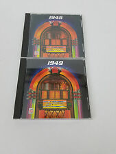 Time Life Your Hit Parade 1945 & 1949 CD Album LOT of 2