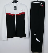 NIKE JORDAN XI DRI-FIT WARM UP SUIT JACKET + PANTS WHITE BLACK RED NWT (SIZE XL)