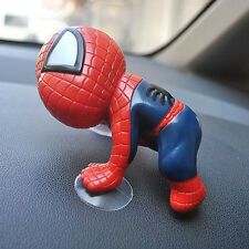 Car SUV Interior Window View Mirror Decorative Cute Spider Man With Sucker Doll