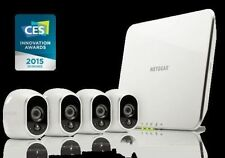 NETGEAR Arlo Smart Home Indoor/Outdoor 4 Wireless HD Security Camera + Base NEW