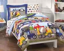 Trucks Tractors Cars Boys Comforter Sheet Pillowcase BedSpread Bedding Bed Set