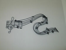 MUSIC NOTES METAL WALL SIGN  FOR A STORE DISPLAY OR REC ROOM