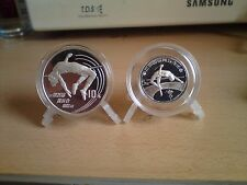 "China silver coins 1984+1990"" Olympic Games high springer"" 5+10 Yuan proof lim."