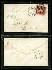 PENNY RED 1865 MOURNING ENVELOPE to RUTLAND UPPINGHAM Plate 80 IF