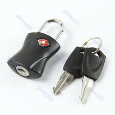 Black Fashion TSA Safe Travel Baggage Luggage Suitcase Lock Padlock With 2 keys