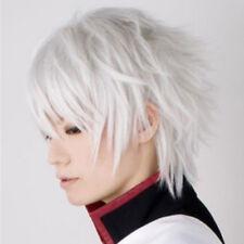 260 Gintama Sakata Gintoki Silver White Cosplay Wig Short Wig