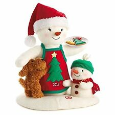 Time For Cookies 2015 Hallmark Christmas Plush Snowman 12th  Motion Dance Music