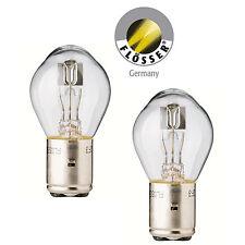 2 x Lampe BA20d Sockel 12V 35/35W Bilux Klar Birne Glühbirne von Flösser