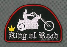 KING of ROAD toppa ricamata termoadesivo iron-on patch Aufnäher