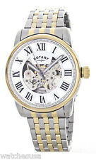 Rotary Mens Skeletonize White Dial Stainless Steel Bracelet Watch GB00401/21