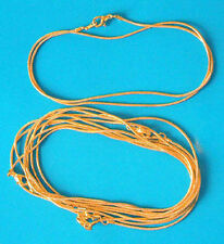 "5 x 16"" gold plated complete snake necklace/pendant chains, 1.1mm dia"
