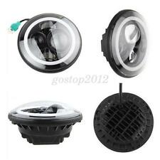 7'' Angel Eye Projector Daymaker Hi/Lo LED Headlight Fit JEEP JK TJ CHEVY Harley