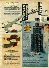 1976 PAPER AD Lincoln Logs Bridge Matchbox Erector Motor Battery-Powered Tinker