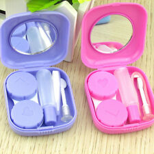 Portable Plastic Mini Contact Lens Kit Case Box Lens Container Storage Holder