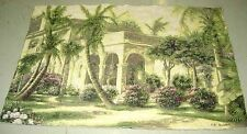 Old Havana ~ Palm Trees Grande Tapestry Wall Hanging Crafters Fabric Remnant