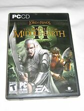 LORD OF THE RINGS BATTLE FOR MIDDLE EARTH ii 2 PC MISSING DISC 1 **READ**