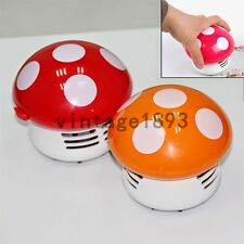 Mini Mushroom Vacuum Cleaner Desk Table Dust Sweeper Dusting Catcher Decoration