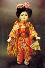 "19""ANTIQUE ASIAN/JAPANESE DOLL KIMONO DRESS/OBI&ZORIES/SHOES/PURSE/BAG PATTERN"