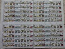 1980 Liverpool + Manchester Railway. Complete sheet x 100 values. Fine + fresh.