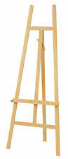 STUDIO EASEL 5ft (1580MM HIGH) ARTIST ART CRAFT DISPLAY - PINE WOOD Wooden
