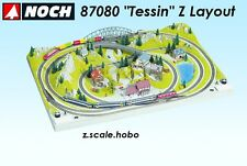 """NOCH 87080 Z Scale Train Layout Tessin 30""""x20"""" *NEW SHIPS FROM USA English Plan"""