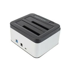 "Dual Bays SATA Hard Drive Disk Case Dock 3.5"" 2.5"" HDD SSD Station Offline clone"