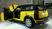 1:24 G LGB Scale New BMW Mini Clubman Cooper S D Rare Yellow 2008 Diecast Model