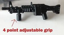 Custom M60 Saw Machine US Military Weapon Army Navy Seals SWAT Lego minifig gun