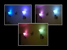 RGB LAMPE VK 129,- WANDLEUCHTE DIMMBAR FARBEN FERNBEDIENUNG LICHTSPIEL EDELSTAHL