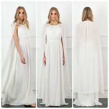 NWT Rachel Zoe Henrietta White Wedding Silk Chiffon Maxi Gown Dress, size 8