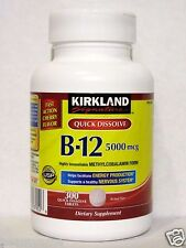 Kirkland Signature Quick Dissolve B-12 5000 mcg 300 Tablets, Methylcobalamin