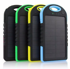 20000mAh Portable Waterproof Solar Charger Dual USB External Battery Power Bank