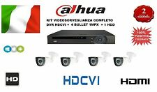 KIT HDCVI DVR 4CH VIDEO 1AUDIO 1080P/720P + 4 BULLET HDCVI 1 MPX + HDD 1TB