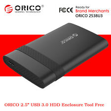 "ORICO USB 3.0 A to Micro B 2.5"" SSD HDD Hard Drive External Enclosure Case Black"
