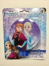 Disney Frozen Ice Princess Elsa & Ana Plug In Night Light With Switch Girls Room