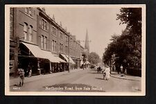 Sale - Northenden Road from Sale Station - real photographic postcard