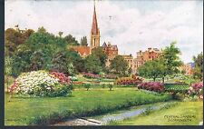 J SALMON A R QUINTON POSTCARD CENTRAL GARDENS BOURNEMOUTH 1925 TORCHLIGHT TATOO