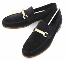 New BRIONI Italy Navy Suede Leather Slip-On Loafers Shoes EU 8.5 US 9.5 NIB $895