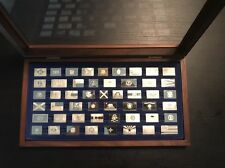 Franklin Mint Mini  Sterling Silver Flags Of 50 States.